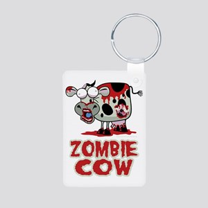 Zombie-Cow Aluminum Photo Keychain