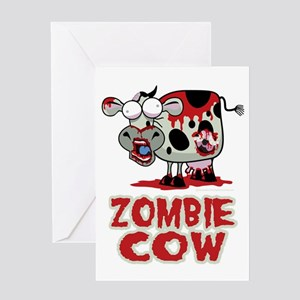Zombies eat brains your safe greeting cards cafepress zombie cow greeting card m4hsunfo