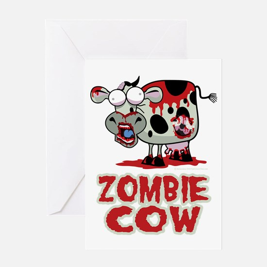 Zombie-Cow Greeting Card