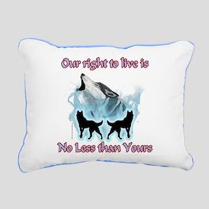Wolf Spirit Rectangular Canvas Pillow