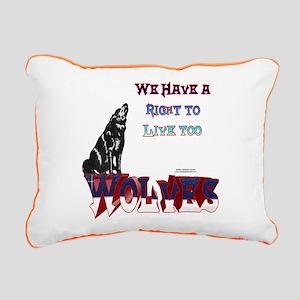 Wolves Rights Rectangular Canvas Pillow