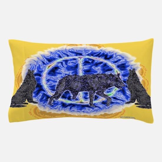 Enigmatic Wolves Pillow Case