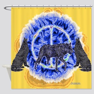 Enigmatic Wolves Shower Curtain