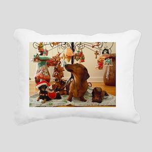 ChristmasDoxie2Card Rectangular Canvas Pillow