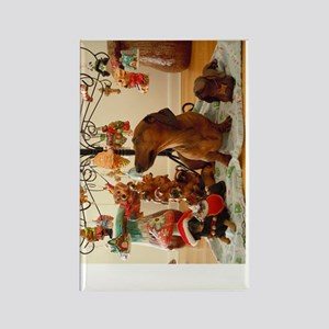 ChristmasDoxie2Poster Rectangle Magnet