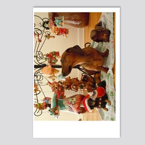 ChristmasDoxie2Poster Postcards (Package of 8)