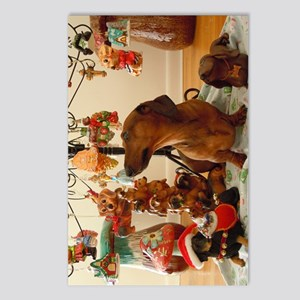 ChristmasDoxie2Print Postcards (Package of 8)