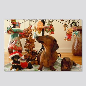 ChristmasDoxie2Pillow Postcards (Package of 8)