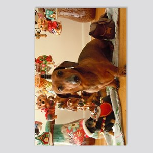 ChristmasDoxie1Print Postcards (Package of 8)