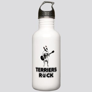 bullterriersrock_blk Stainless Water Bottle 1.0L