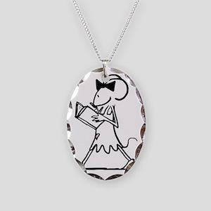 BM_WALKINGREADING_CMYK Necklace Oval Charm