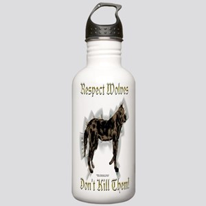 Wolves Respect Stainless Water Bottle 1.0L