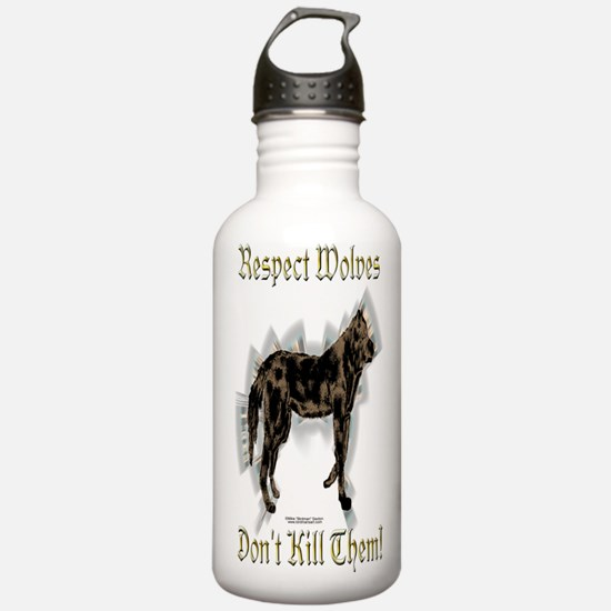 Wolves Respect Water Bottle