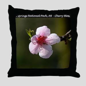 Cherry Blossom Photograph Throw Pillow
