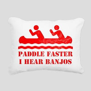 canoe-RED Rectangular Canvas Pillow