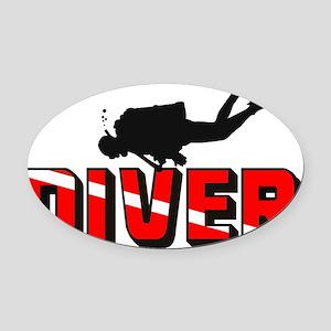 diver.1 Oval Car Magnet