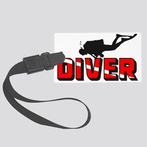 diver.1 Large Luggage Tag