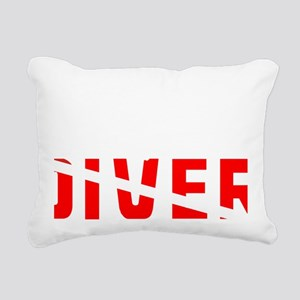 diver.2 Rectangular Canvas Pillow