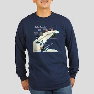 Kewanee Peninsula Lighthouses Long Sleeve T-Shirt