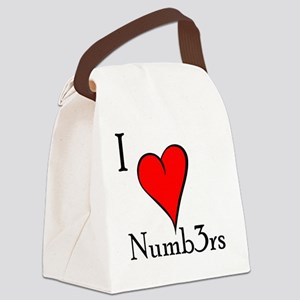 I love Numb3rs Canvas Lunch Bag
