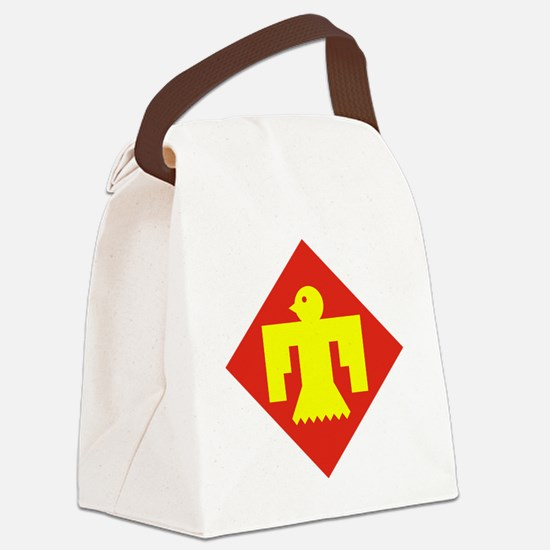 45th Infantry Division Canvas Lunch Bag