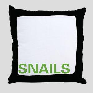 livesnail2 Throw Pillow