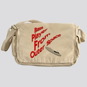Bass Player From Outer Space Messenger Bag