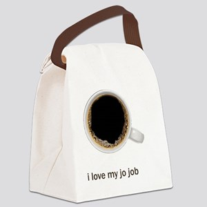 Coffee-Lt-ILoveMyJoJob Canvas Lunch Bag