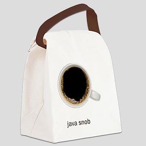Coffee-Lt-JavaSnob Canvas Lunch Bag