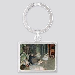 The Rehearsal of the Ballet on  Landscape Keychain