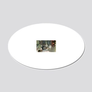 The Rehearsal of the Ballet  20x12 Oval Wall Decal