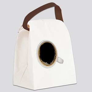 Coffee-Dk-BlackPower Canvas Lunch Bag