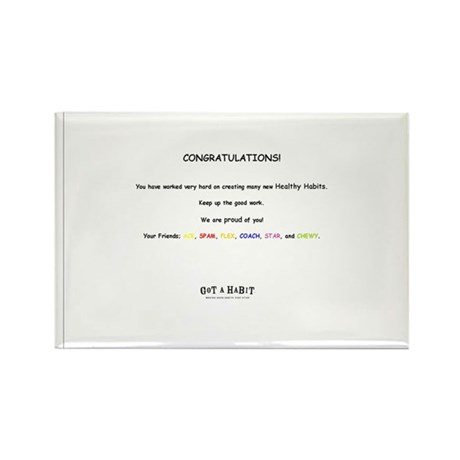 notecard all Rectangle Magnet