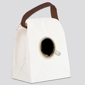 Coffee-Dk-C8H10 Canvas Lunch Bag