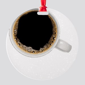 Coffee-Dk-DrinkThenDrive Round Ornament