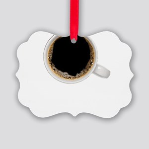 Coffee-Dk-HalfCaff Picture Ornament