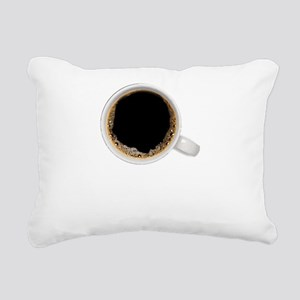 Coffee-Dk-HalfCaff Rectangular Canvas Pillow