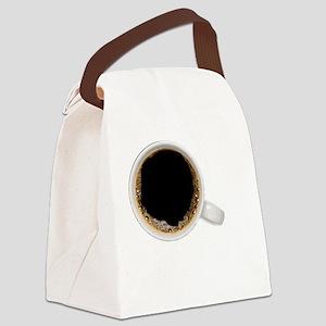 Coffee-Dk-JavaSnob Canvas Lunch Bag