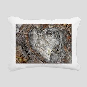 Natures Heart Rectangular Canvas Pillow