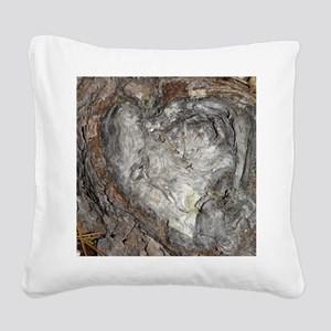 Natures Heart Square Canvas Pillow