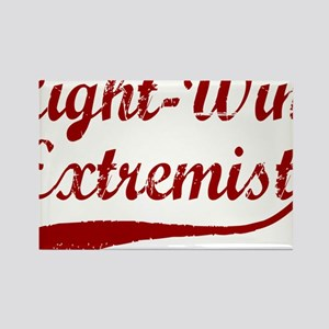 Right-Wing-Extremist-(cursive)-wh Rectangle Magnet
