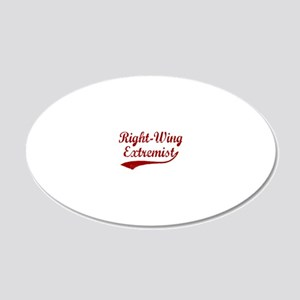 Right-Wing-Extremist-(cursiv 20x12 Oval Wall Decal