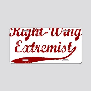 Right-Wing-Extremist-(cursi Aluminum License Plate