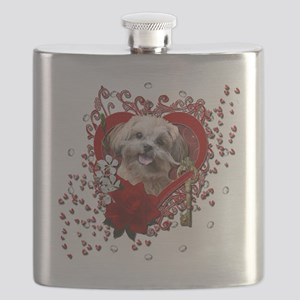 Valentine_Red_Rose_ShihPoo_Maggie Flask