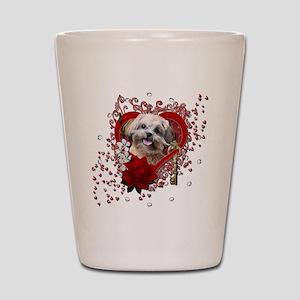 Valentine_Red_Rose_ShihPoo_Maggie Shot Glass
