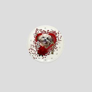 Valentine_Red_Rose_ShihPoo_Maggie Mini Button