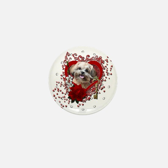 Valentine_Red_Rose_ShihPoo_Maggie Mini Button