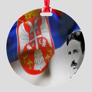 TeslaShirt Round Ornament
