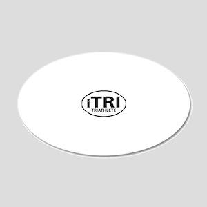 iTRI TRIATHLETE oval 20x12 Oval Wall Decal