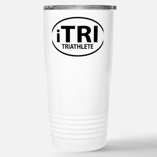 iTRI TRIATHLETE oval Stainless Steel Travel Mug
